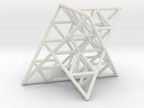 Rod Merkaba Lattice OpenBase 2cm in White Strong & Flexible