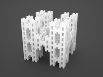 "Menger ""H"" Level 3 in Sandstone"