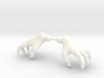 Monster Hands in White Strong & Flexible Polished