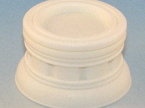 25mm Round Plinth in White Strong & Flexible