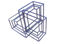 Cubic Trefoil Knot Frame in Black Strong & Flexible