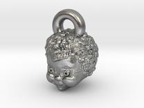 Mrs Beasley Earrings or Charm in Raw Silver