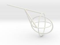 Borromean Rings seifert surface in White Strong & Flexible