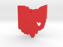 I love Ohio Necklace in Red Strong & Flexible Polished
