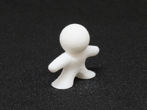 "PolyMeeple (""Standard"" 8 pack) in White Strong & Flexible"