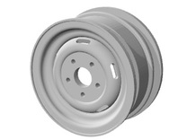 Pinzgauer rim 1.55 (single) in White Strong & Flexible