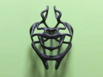 Entangled pendant in Matte Black Steel