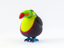 Chubby Toucan in Full Color Sandstone