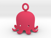 Octopus Pandant in Pink Strong & Flexible Polished