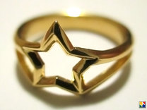 Star in 14k Gold Plated