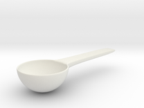 Coffee Scoop 30g in White Strong & Flexible