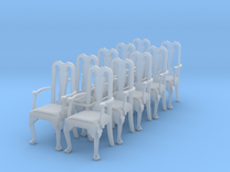 1:48 Queen Anne Chair with Arms (Set of 10) in Frosted Ultra Detail