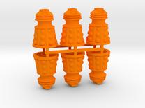 Dalek Post Version B (six pack) in Orange Strong & Flexible Polished