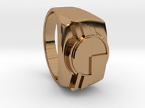 """Test Squadron - Signet Ring - Version2.0 """"Size 9"""" in Polished Brass"""