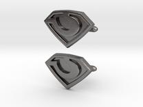 General Zod cufflinks in Polished Nickel Steel
