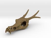 Asian Dragon Pendant in Raw Bronze
