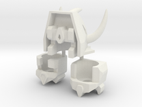 Robohelmets: Dinobuddies (Revised 2/15) in White Strong & Flexible