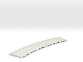 P-165-32st-tram-outer-long-curve-100-1a in White Natural Versatile Plastic