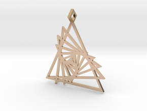 Triangle array in 14k Rose Gold Plated Brass