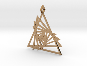Triangle array in Polished Brass