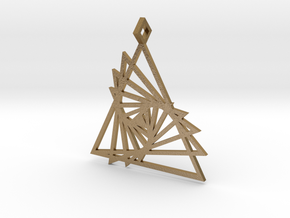 Triangle array in Polished Gold Steel