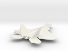 F22 Raptor TOM 05Jul2015 1/285 scale in White Natural Versatile Plastic