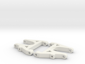 Shorter DS arm V3 in White Natural Versatile Plastic