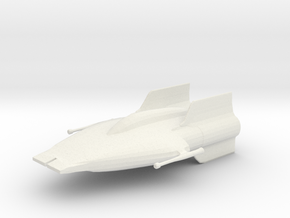 A-Wing in White Natural Versatile Plastic