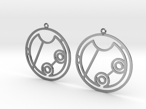 Geneva - Earrings - Series 1 in Fine Detail Polished Silver