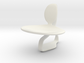Chair No. 46 in White Natural Versatile Plastic