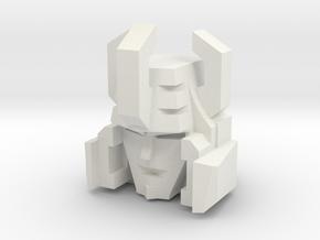 Galv Head in White Natural Versatile Plastic