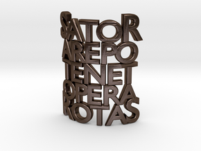 Sator Arepo Tenet Opera Rotas in Polished Bronze Steel