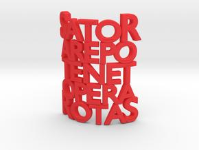 Sator Arepo Tenet Opera Rotas in Red Processed Versatile Plastic