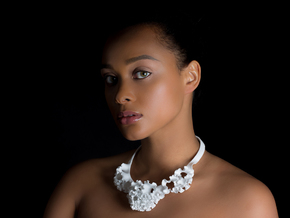 Flora Collar | floraform collection in White Natural Versatile Plastic