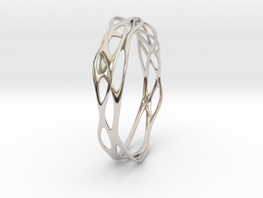 Incredible Minimalist Bracelet #coolest (S) in Rhodium Plated Brass: Small