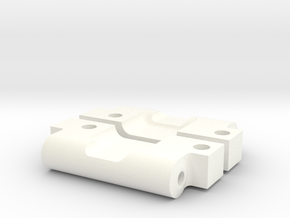 NIX63602 HD Rear Arm Mounts for RC10 (0deg/0deg) in White Processed Versatile Plastic
