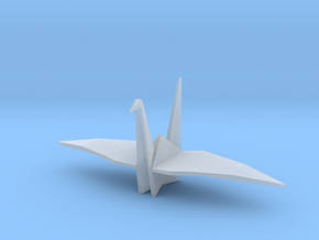 Origami Crane in Smooth Fine Detail Plastic