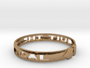 Quit The Typical Bracelet in Polished Brass