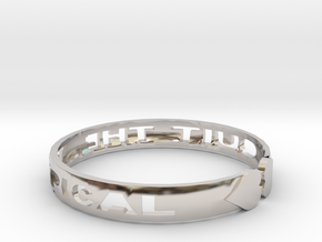 Quit The Typical Bracelet in Rhodium Plated Brass