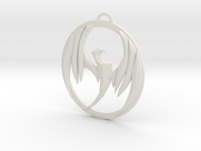 Storm Hawks Pendant in White Natural Versatile Plastic