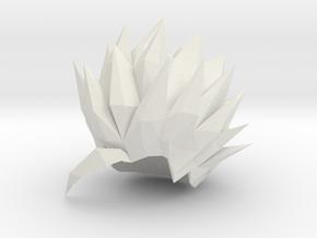 Custom Teen Gohan SSj2 Inspired Hair for Lego in White Natural Versatile Plastic