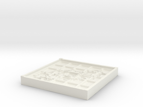 Tribal Beveled Mold in White Natural Versatile Plastic