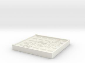 Tribal Beveled Mold in White Natural Versatile Plastic
