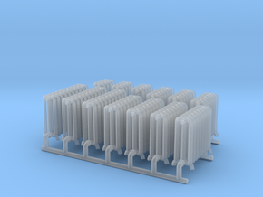 Radiator Assortment 2 HO Scale in Smooth Fine Detail Plastic