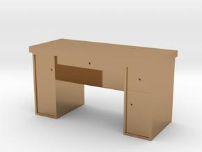 HO Scale Desk  in Polished Brass