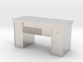 HO Scale Desk  in Rhodium Plated Brass