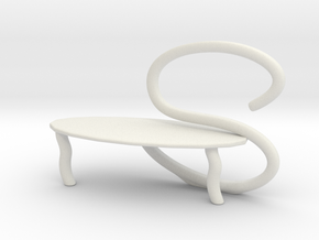 Chair No. 38 in White Natural Versatile Plastic