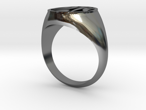 Misfit Ring Size 10 in Premium Silver