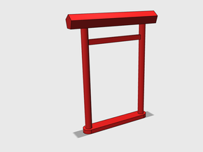 Torii, Ise-Shinmei, medium (N/H0-gauge) in Smooth Fine Detail Plastic