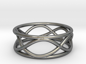 Infinity Ring- Size 6 in Fine Detail Polished Silver